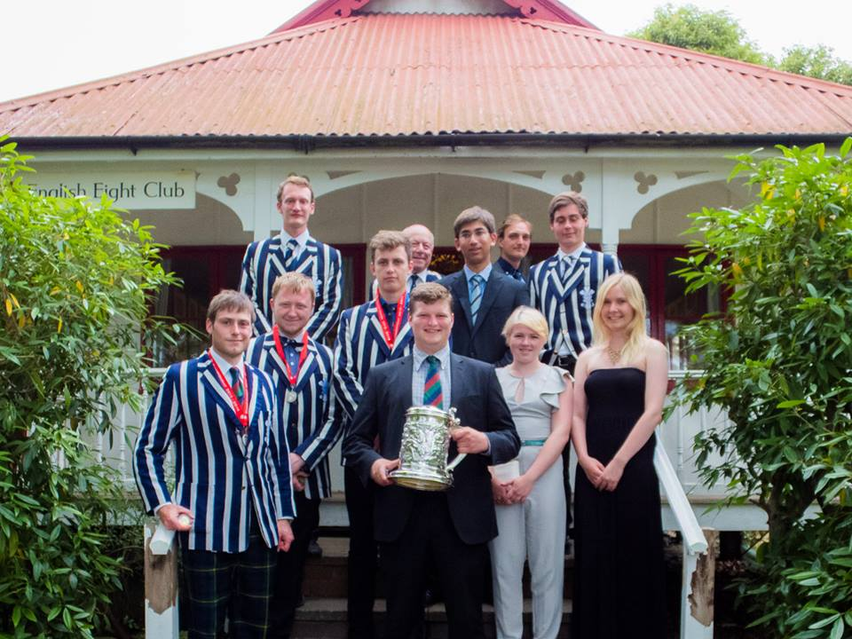 The OURC team with the Chancellors' Trophy